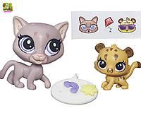 Литл Пет Шоп Санни и Кубби Маленький зоомагазин hasbro littlest pet shop lps sunny cougar & cubby cougar