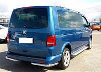 Защита заднего бампера Volkswagen Transporter T5 (уголки одинарные)