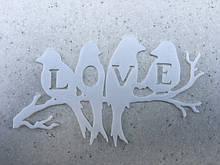 Птички на ветке LOVE