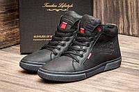 Кожаные мужские ботинки wrangler black, фото 1