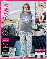 """Теплая женская пижама Welsoft """"Fawn"""",Турция"""