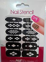 Трафарет для дизайна ногтей (LK33)