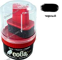 Крем-краска для обуви Сова люкс черный, фото 1