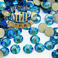 Камни Xirius Crystals, цвет Aquamarine AB, ss16 (3,8-4мм), 100шт