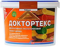 Лазурь-лак антисептический ІРКОМ ДОКТОРТЕКС ІР-013 для древесины рябина 10л
