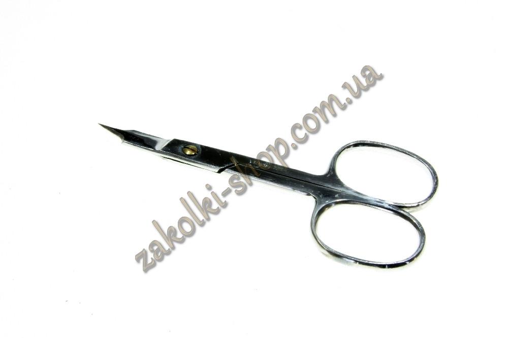 Ножиці манікюрні Майстер 721 нігтьові для обрізання нігтів на руках і ногах, вигнута форма, ручне заточування,