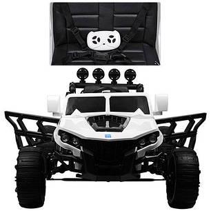Детский электромобиль Hummer M 3599 белый, кожа, амортизаторы, двери, багажник, EVA, ручка-чемодан, фото 2