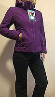 Женский горнолыжный и сноубордический костюм Фиалковый Avecs