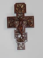 """Православный деревянный резной крест """"распятие креста"""" 200*100 мм, фото 1"""