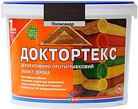 Лазурь-лак антисептический ІРКОМ ДОКТОРТЕКС ІР-013 для древесины полисандр 10л