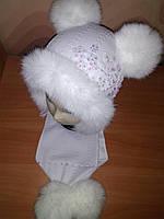 Детский зимний набор на девочку с вышивкой