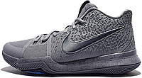 Баскетбольные кроссовки Nike Kyrie 3 Cool Grey/Midnight Navy Pure (найк) серые