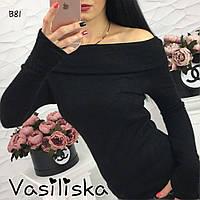 Красивая черная женская кофта из ангоры ан-10688-5