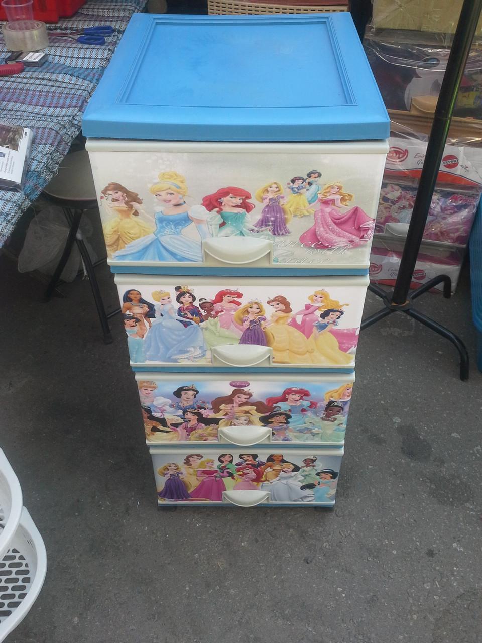 Комод пластиковый элиф принцессы диснея 2