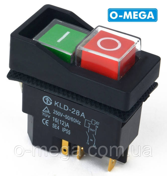 Кнопка KLD28A (магнитный пускатель) двойная на 5 контактов