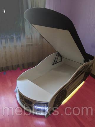 Кроватка машина Тесла синяя Mebelkon, фото 2