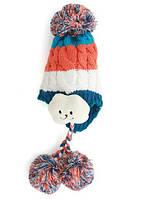Шапка зимняя детская с помпоном