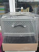 Пластиковый комод EF 4( серый сетка)