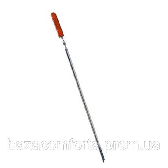 Шампур угловой Скаут 60см с деревянной ручкой