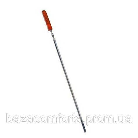 Шампур угловой Скаут 60см с деревянной ручкой, фото 2