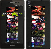 "Чехол на Huawei Ascend P7 Marvel v2 ""2826c-49-716"""