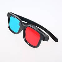 3х пластиковые 3D очки, анаглифные стерео очки (набор из 3х штук)
