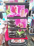 "Комод на 3 ящика с декором ""орхидея""  Алеана, фото 2"