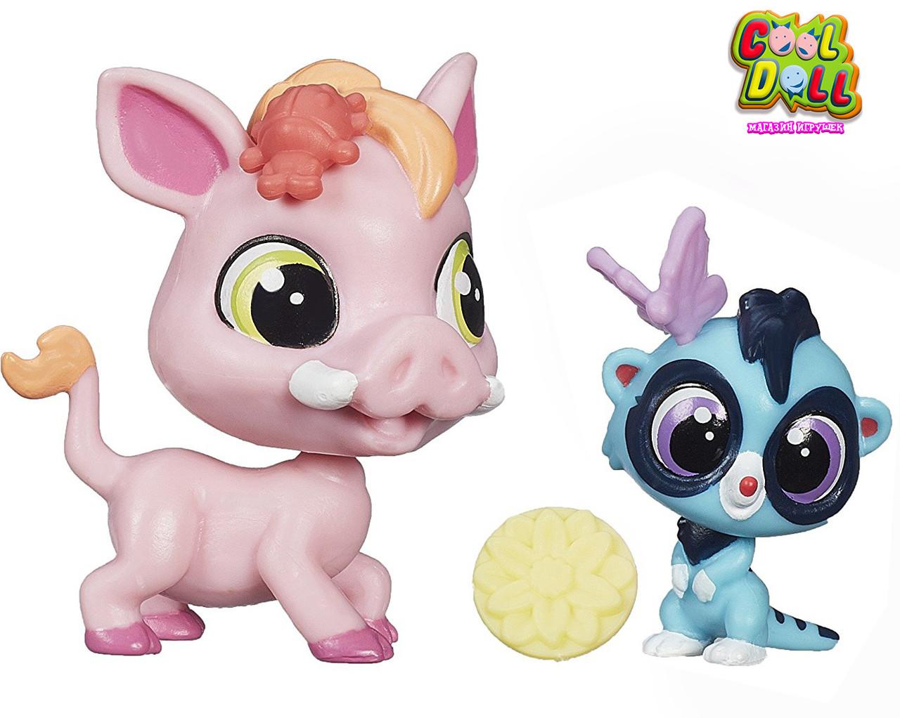Литл Пет Шоп зверюшки Варен и Мира Hasbro Littlest Pet Shop Warren Plainley and Mira Surrey