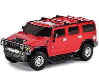 Автомодель HUMMER H2 в ассорт. серый, красный, 1:26, свет, звук, инерционная GearMaxx (89521)
