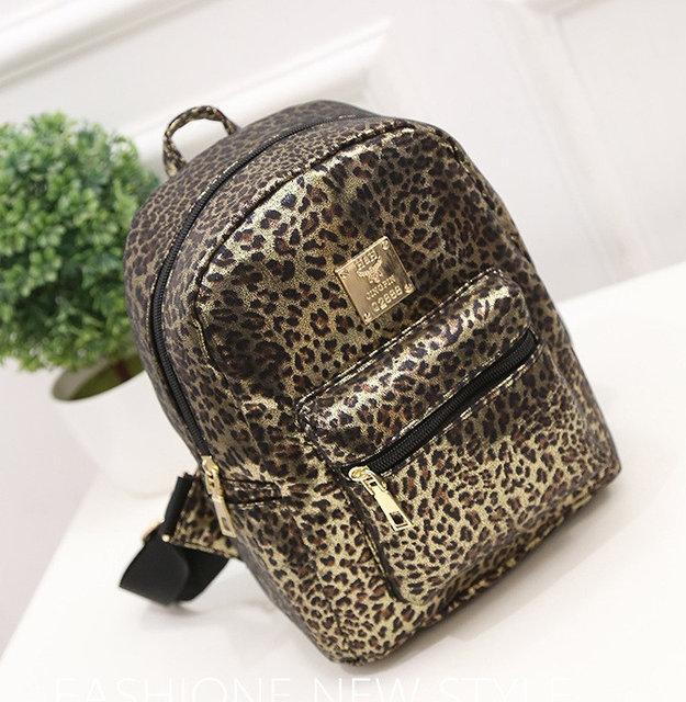 Леопардовый женский рюкзак