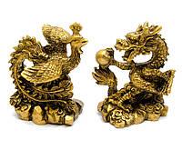 Дракон и Феникс каменная крошка (дракон 8х7х4,5 см,феникс 8х6,5х5 см)