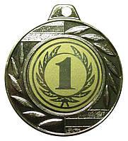 Медаль спортивная 40 мм. 1 место с лентой