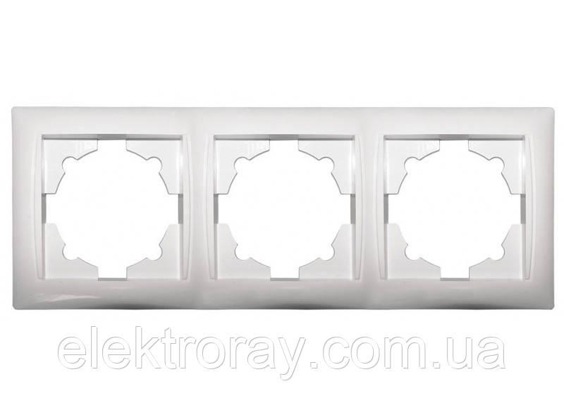 Рамка потрійна Luxel Primera біла