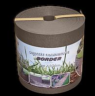 Бордюр газонный прямой BORDER 6мх15смх2.8мм. Коричневый