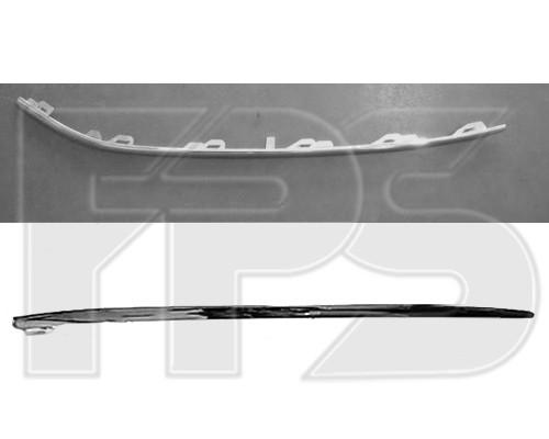 Молдинг решетки в переднем бампере VW Passat B7 10-14, нижний правый , хром. (FPS) 3AD853764