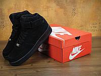 Зимние кроссовки мужские Nike Air Force Winter Black Реплика