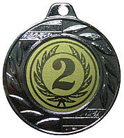 Медаль спортивная 40 мм. 2 место с лентой