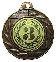 Медаль спортивная 40 мм. 3 место с лентой