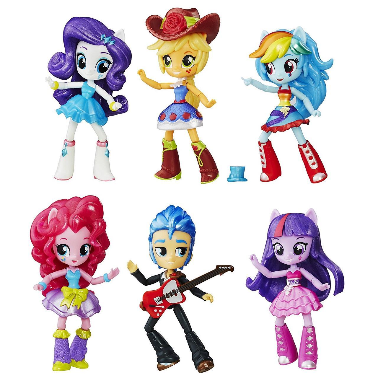 My Little Pony Набор из 6 фигурок серия школьные танцы Equestria Girls Minis School Dance Collection