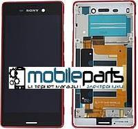 Оригинальный Дисплей (Модуль)+Сенсор Sony E2312 Xperia M4 Aqua Dual Sim | E2333 | E2363 (С рамкой) Коралловый