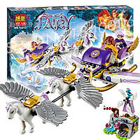 Конструктор Bela Эльфы Elves 10413 Летающие сани Эйры, 318 дет, 5 минифигурок (аналог LEGO Elves 41077)