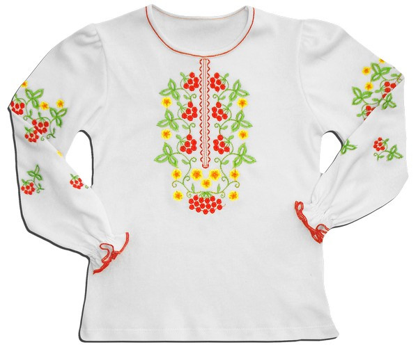 Блуза вышиванка Калинка для девочки