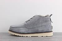 Зимние мужские ботинки UGG Australia David Beckham (Угги Австралия Девид Бекхем) серые