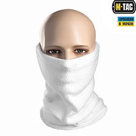 M-Tac шарф-труба с затяжкой флис белый