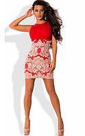 Красное платье с французской вышивкой