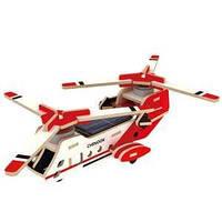 Конструктор деревянный Вертолет CH47 с солнечной батареей в коробке 50*50*36 см