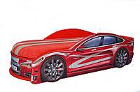 Кроватка машина Тесла красная