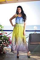 Длинные женские платья с шифоновой юбкой 46, 48
