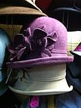 Фетровая шляпа с полями завернутыми вверх, фото 9