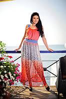 Яркие женские платья из шифона